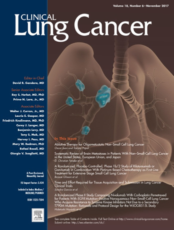 Clinical Lung Cancer cover